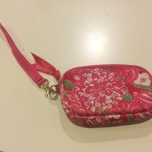 Lilly Pulitzer Soft Wristlet Purse Coin Tech Case